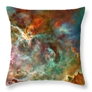 The Carina Nebula Panel Number Three Out Of A Huge Three Panel Set Throw Pillow
