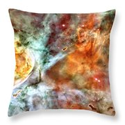 The Carina Nebula Panel Number Two Out Of A Huge Three Panel Set Throw Pillow