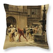 The Carnival Procession Throw Pillow