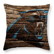 The Carolina Panthers 4a Throw Pillow