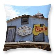 The Carpenter Farm Supply Throw Pillow