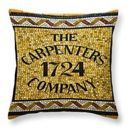 The Carpenters Company Throw Pillow