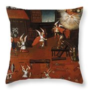 The Carpenters Shop In Nazareth Throw Pillow