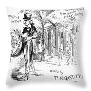 The Carpet Bagger, C1869 Throw Pillow