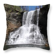 The Cascades Falls II Throw Pillow