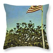 The Casements Flag Flying Throw Pillow