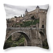 The Castle And The Bridge Throw Pillow