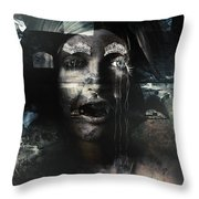 The Castle And The Vampires Tale Throw Pillow