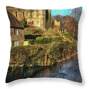 The Castle At Brecon Throw Pillow