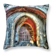 The Castle Door - La Porta Del Castello Throw Pillow