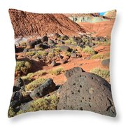 The Castle II Throw Pillow