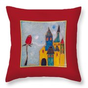 The Castle Lives Throw Pillow