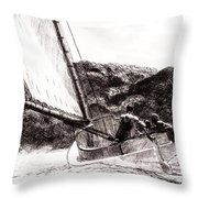 The Cat Boat, Edward Hopper Throw Pillow