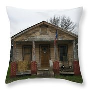 The Cat House Throw Pillow