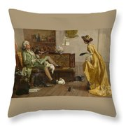 The Cat Lover Visited  Throw Pillow