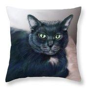 The Cat Named Boy Throw Pillow