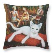The Cat Throw Pillow