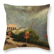 The Catching-house Throw Pillow