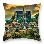 The Cathedral At Arundel Throw Pillow