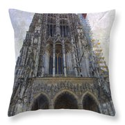 The Cathedral At Ulm Throw Pillow