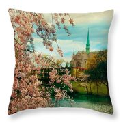 The Cathedral Basilica Of The Sacred Heart Throw Pillow