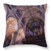 The Cathedral Of St. Patrick Throw Pillow