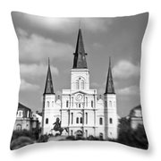 The Cathedral - Bw Throw Pillow