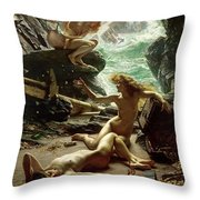 The Cave Of The Storm Nymphs Throw Pillow