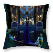 The Cave Temple Of Lhariahn Throw Pillow