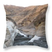 The Caverns From Hell Throw Pillow