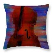 The Cello Throw Pillow