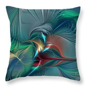 The Center Of Longing-abstract Art Throw Pillow