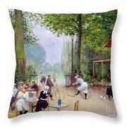 The Chalet Du Cycle In The Bois De Boulogne Throw Pillow