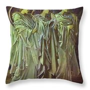 The Challenge In The Wilderness 1898 Throw Pillow