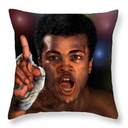 The Champ Is Here -period Throw Pillow