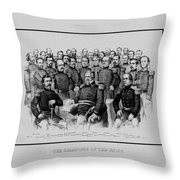 The Champions Of The Union -- Civil War Throw Pillow