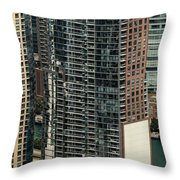 The Chandler Condominiums Building Chicago Aerial Throw Pillow