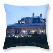 The Chanler At Cliff Walk Throw Pillow