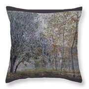 The Channal Of Loing In Spring Throw Pillow
