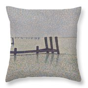 The Channel At Nieuport Throw Pillow