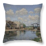 The Channel Of Saint Martin Throw Pillow
