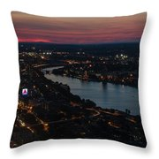 The Charles River Runs Through Boston At Sunset Boston, Ma Throw Pillow