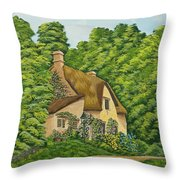 The Charm Of Wiltshire Throw Pillow
