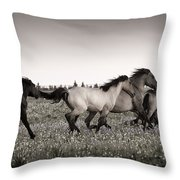 The Chase 1 Copper Throw Pillow by Roger Snyder