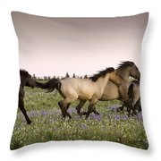 The Chase 1 Throw Pillow by Roger Snyder