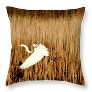 The Chase Began Throw Pillow