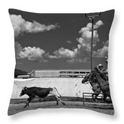 The Chase For Time Throw Pillow