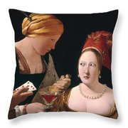The Cheat With The Ace Of Diamonds Throw Pillow