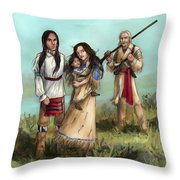 The Cherokee Years Throw Pillow by Brandy Woods