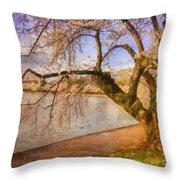 The Cherry Blossom Festival Throw Pillow